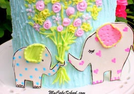 Free Cake Tutorial! Adorable Elephant Cake by MyCakeSchool.com.