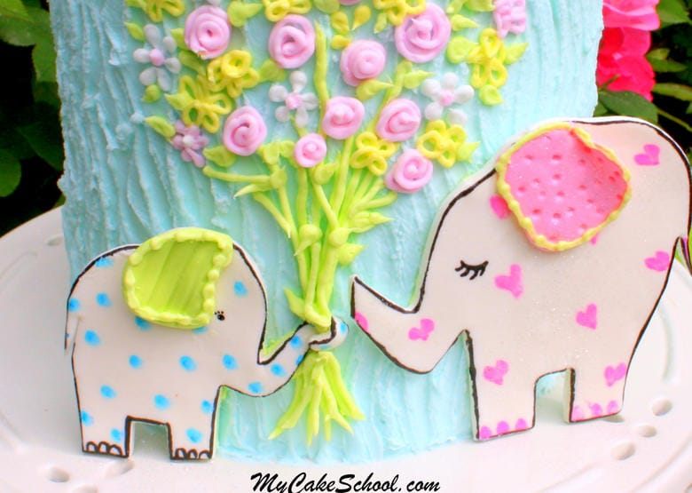 Love You Bunches! Elephant Cake Tutorial