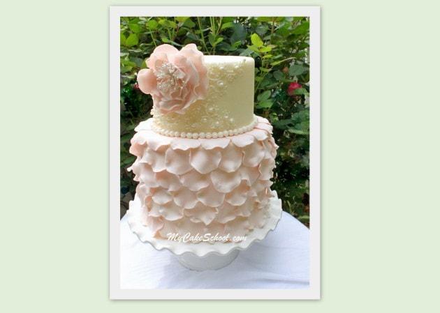 Elegant Fondant Petal Cake~Video My Cake School