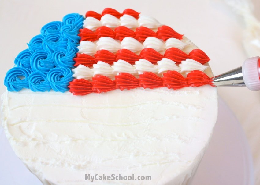 Cake Decorating Ideas For July 4th : Adorable Fourth of July Cake & Cupcake Ideas!~ Tutorial ...