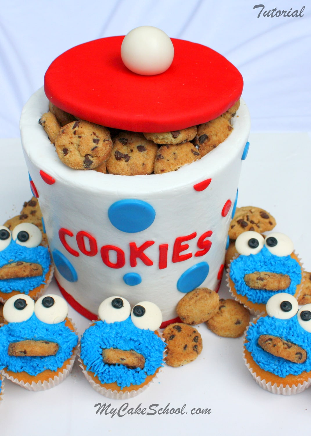 Image Result For Easy Cookie Monster Cake