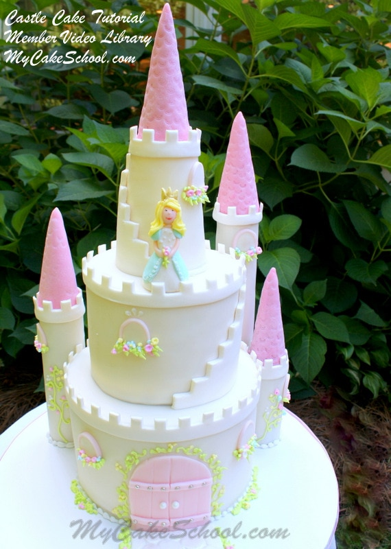 How To Make A Castle Cake My Cake School My Cake School