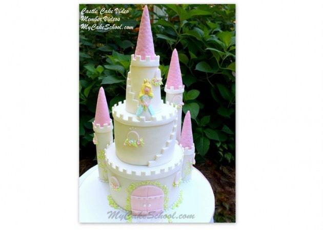 Gorgeous Castle Cake Tutorial by MyCakeSchool.com! Cake Decorating Videos & Recipes!