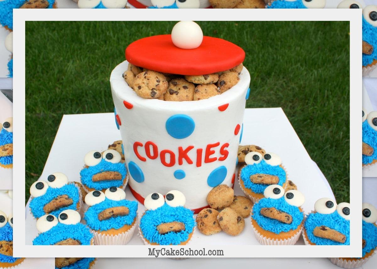 Cookie Monster Cookie Jar Cake