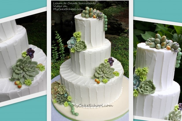 Learn how to make elegant succulents in this MyCakeSchool.com video tutorial!