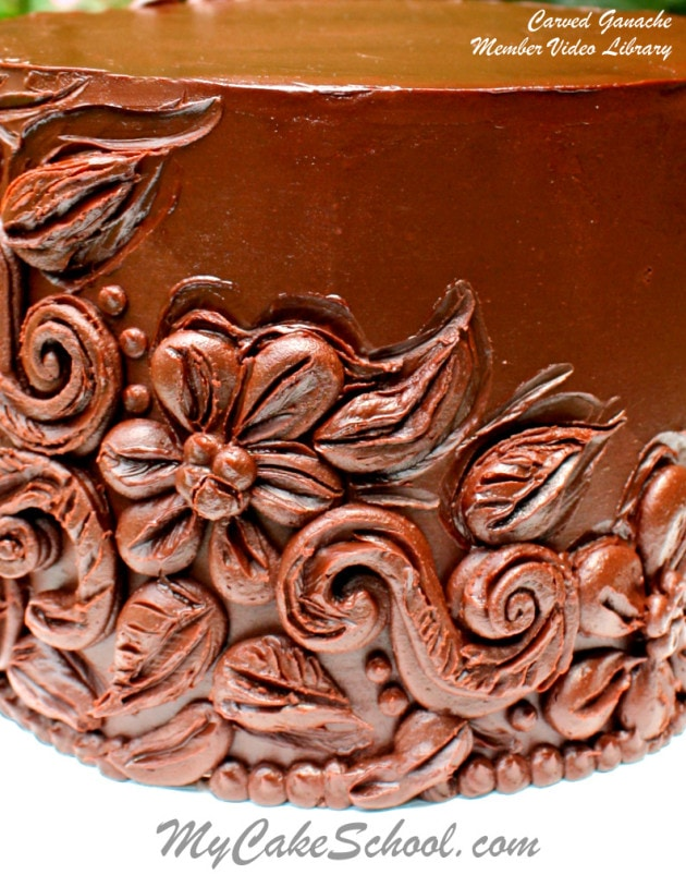 Carved Ganache Cake using our Simple Spreadable Ganache Recipe