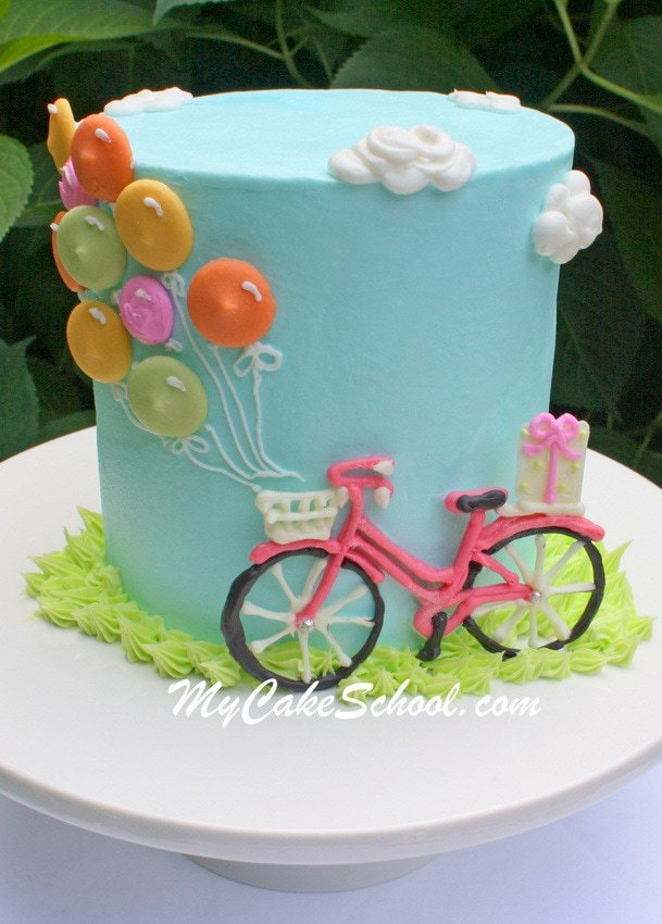 Chocolate Bicycle Tutorial by MyCakeSchool.com