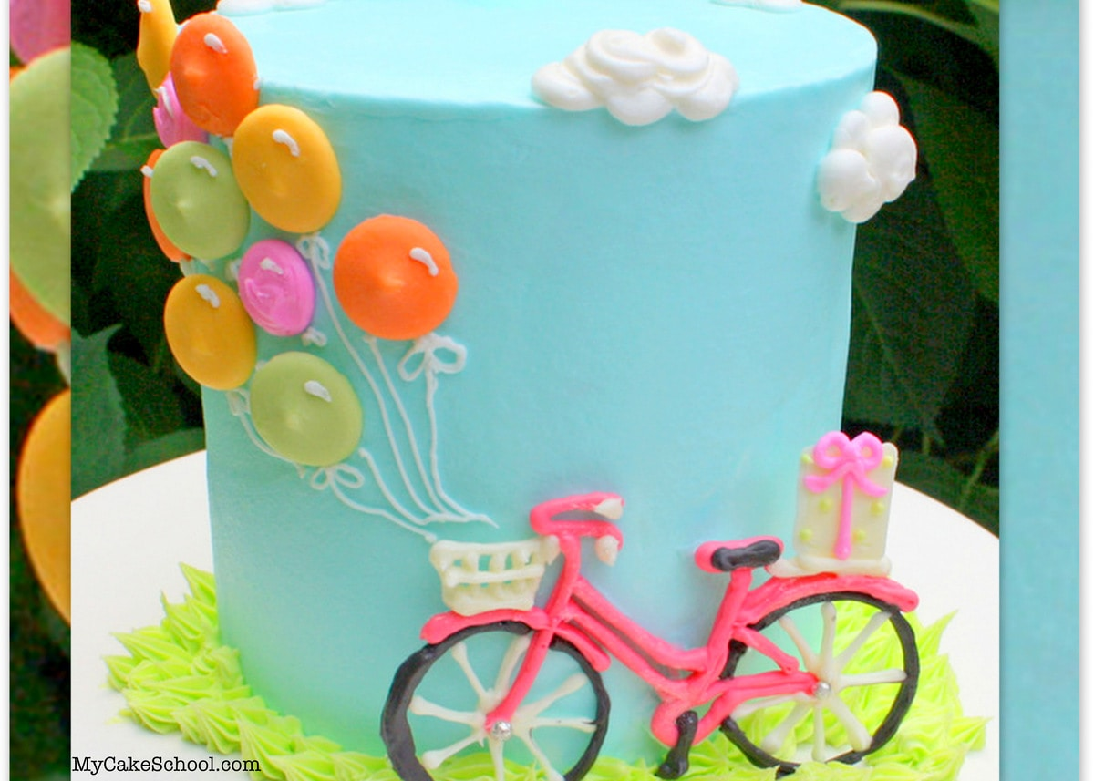 Bicycle And Balloons Cake Free Cake Tutorial My Cake School