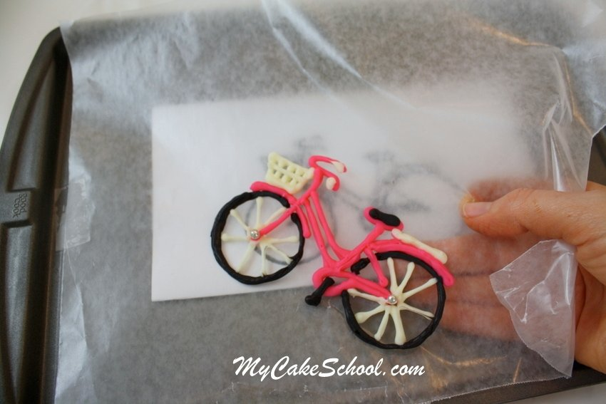 Adorable Bicycle and Balloons Cake! Free cake decorating tutorial by MyCakeSchool.com! Online cake classes & recipes!