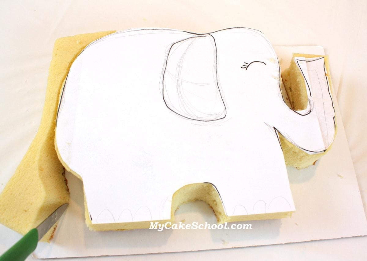 How To Make An Elephant Shaped Birthday Cake