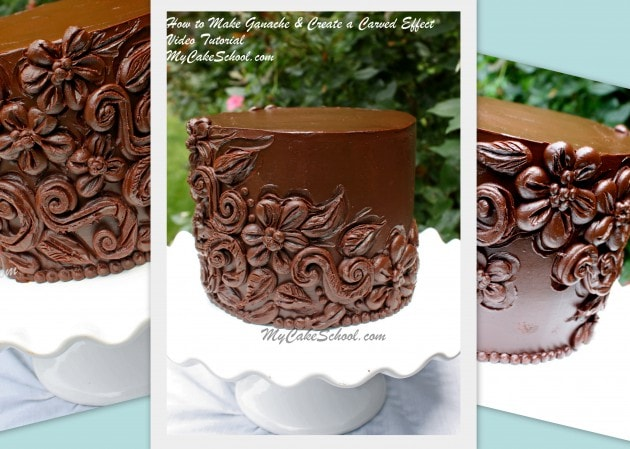 How to Make Ganache & Create a Carved Effect -Video