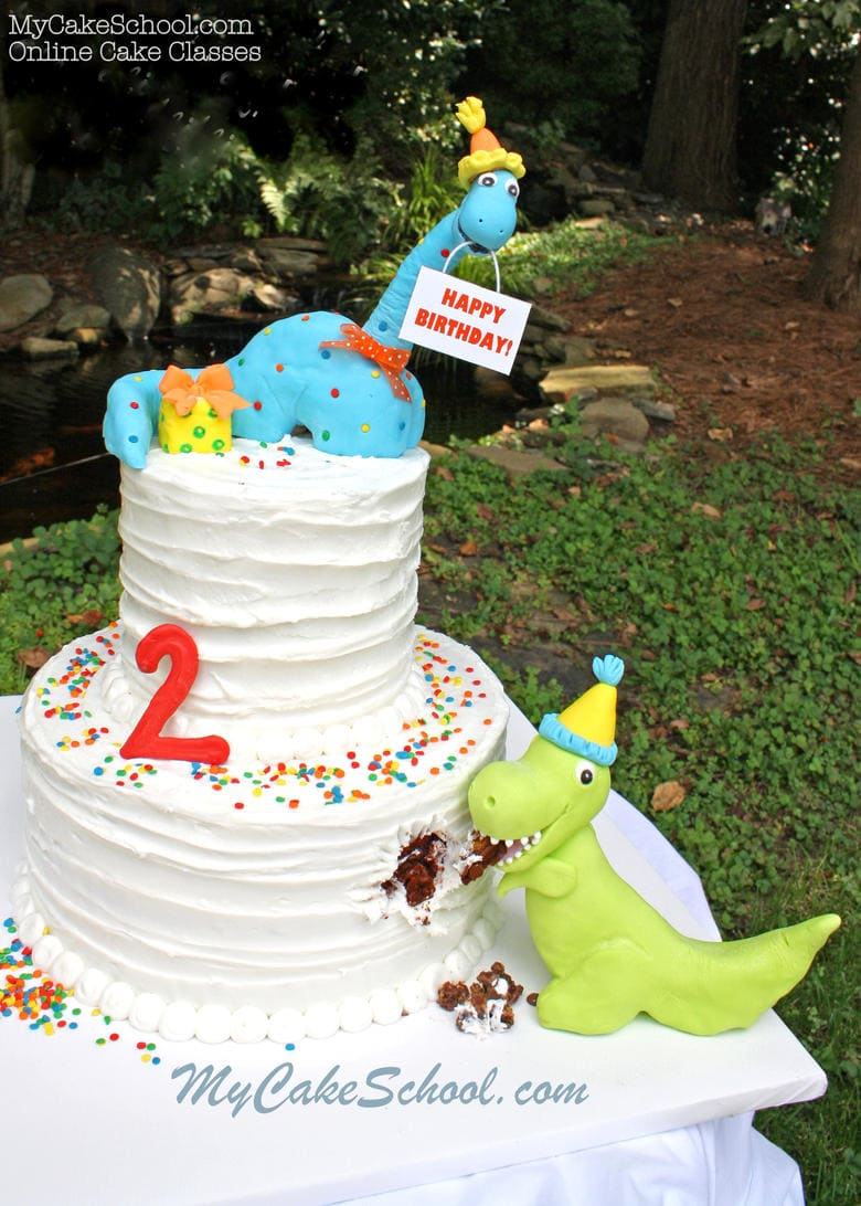 Dinosaur Birthday Cake Video Tutorial My Cake School