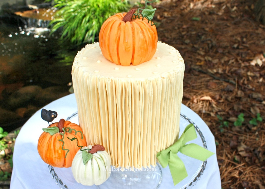 How to make pumpkins for cakes! MyCakeSchool.com