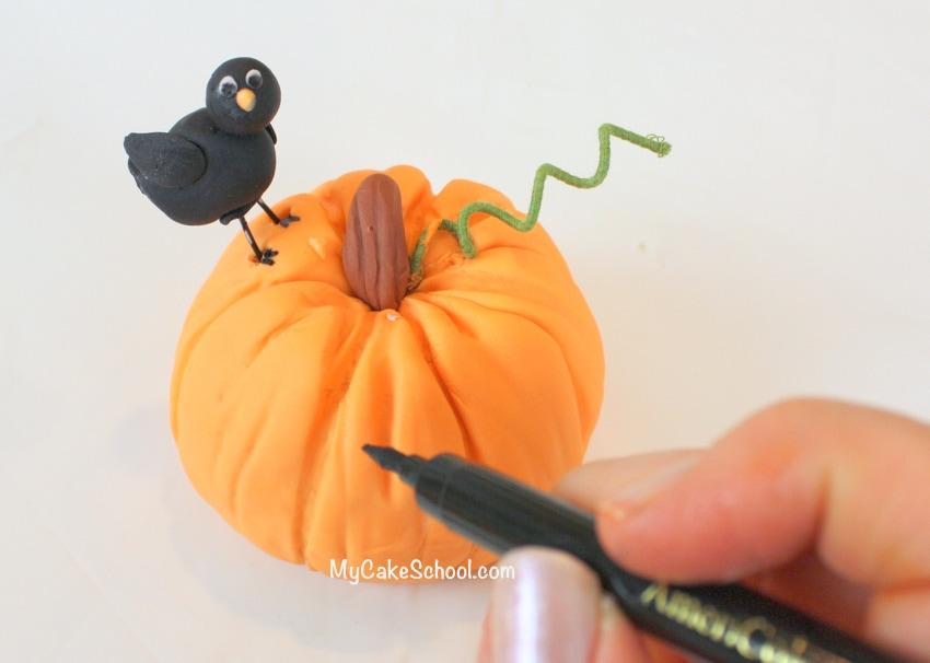 How to make pumpkins for cakes! MyCakeSchool.com
