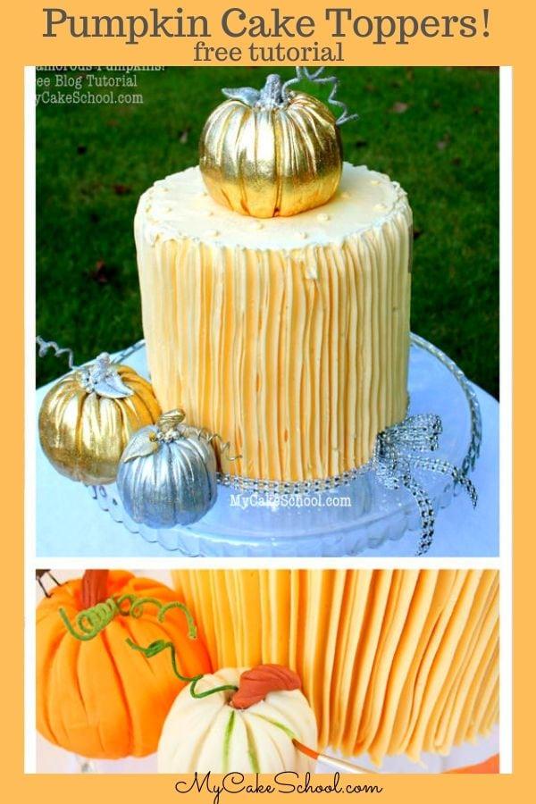 Pumpkin Cake Topper Tutorial
