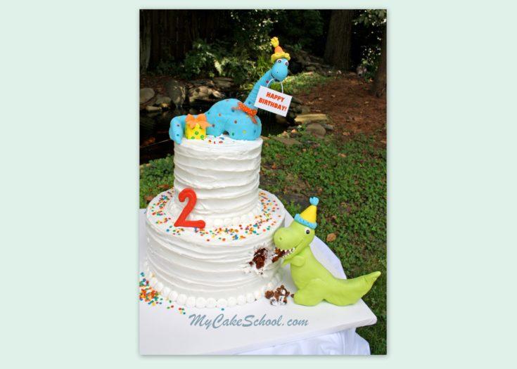 Dinosaur Birthday Cake~ Member Video Tutorial