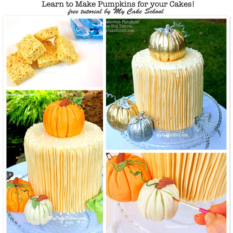 Free Fall Cake Tutorial! Learn to make gorgeous pumpkins for your fall and Thanksgiving cakes!