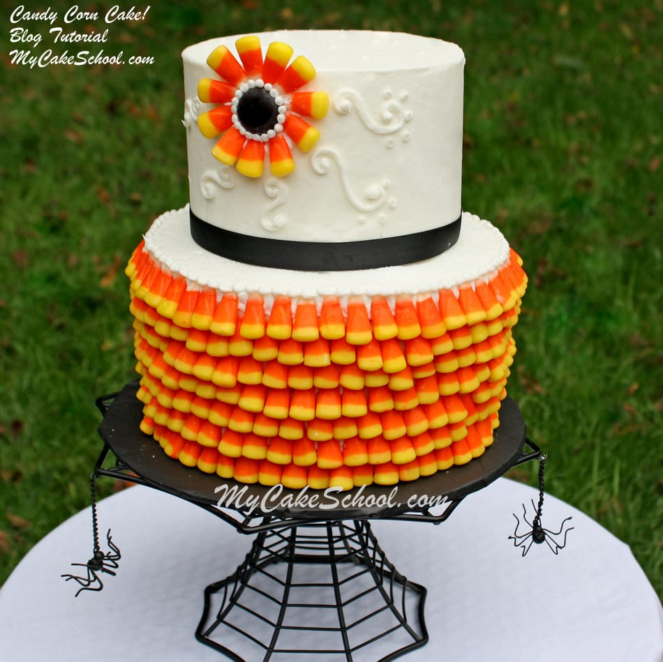 Candy Corn Cake ~ A Cake Decorating Blog Tutorial My ...