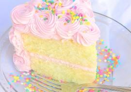 White Almond Sour Cream Cake (Scratch Recipe) by MyCakeSchool.com