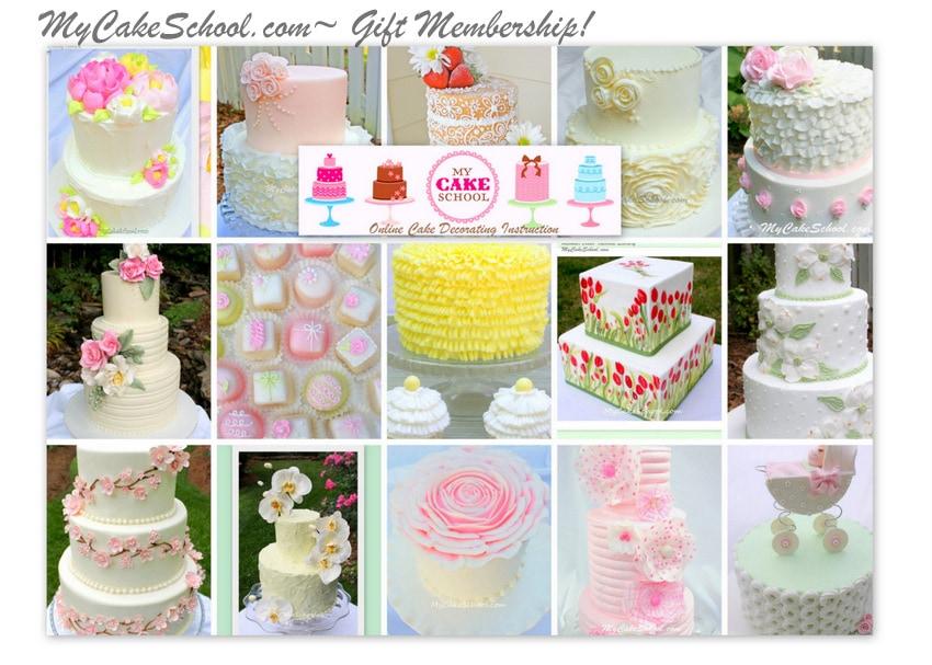 MyCakeSchool.com-Online Cake Decorating Instruction- Gift Membership