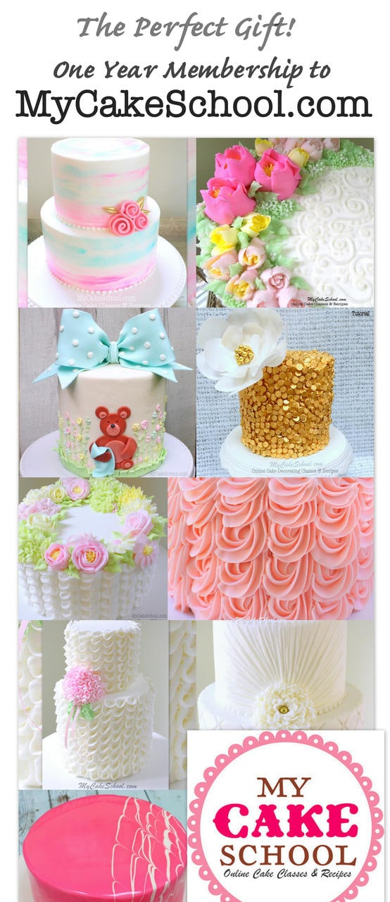 One Year Gift Membership to My Cake School! Online Cake Decorating Tutorials!