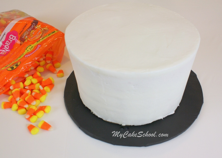 Candy Corn Cake Tutorial by MyCakeSchool.com