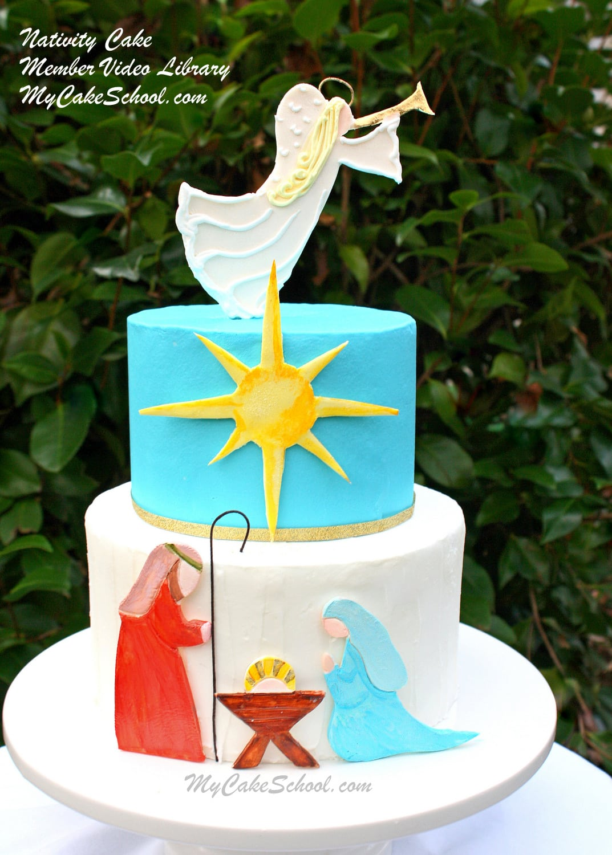 Nativity Cake A Cake Decorating Video Tutorial My Cake School