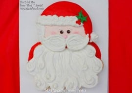 Sweet Santa Cupcake Cake Tutorial by MyCakeSchool.com! Online Cake Tutorials & Recipes!