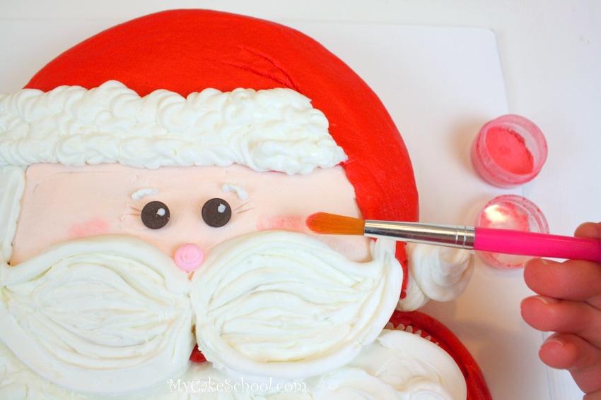 Santa cupcake cake tutorial by MyCakeSchool.com!