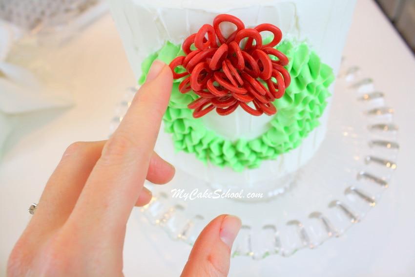 Buttercream Ruffled Wreath blog tutorial by MyCakeSchool.com!