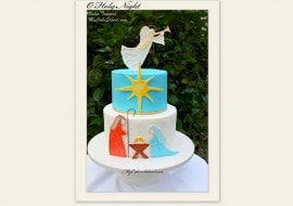 Celebrate the Season with this Beautiful Nativity Cake! A My Cake School Cake Decorating Video Tutorial.
