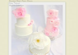 Learn how to make Wafer Paper Flowers! From My Cake School's Cake Video Section. Online Cake Decorating Instruction & Recipes!