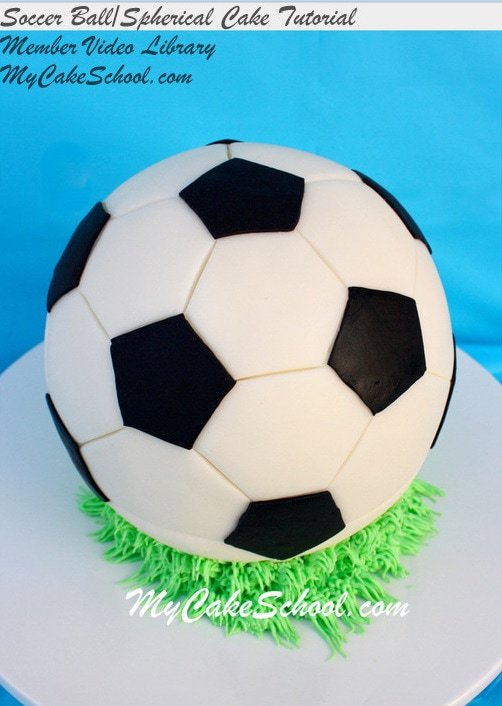 How To Make A Round Spherical Cake And Soccer Ball My