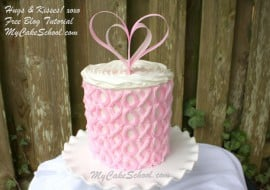 CUTE Valentine's Day Hugs & Kisses Cake by My Cake School! Free Tutorial! XOXO