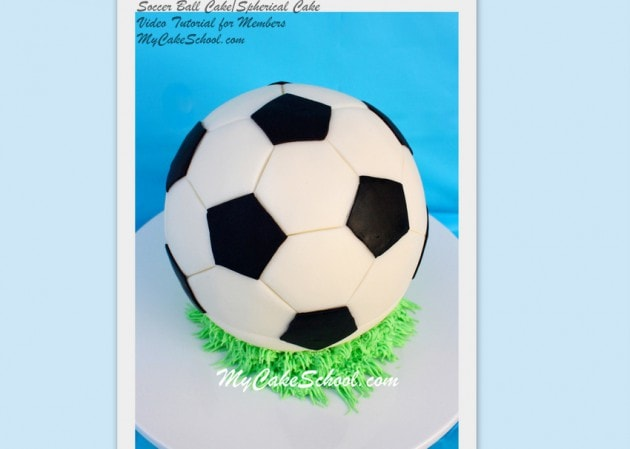 Learn to create and decorate round, spherical cakes in this MyCakeSchool.com Soccer Ball Cake Video!
