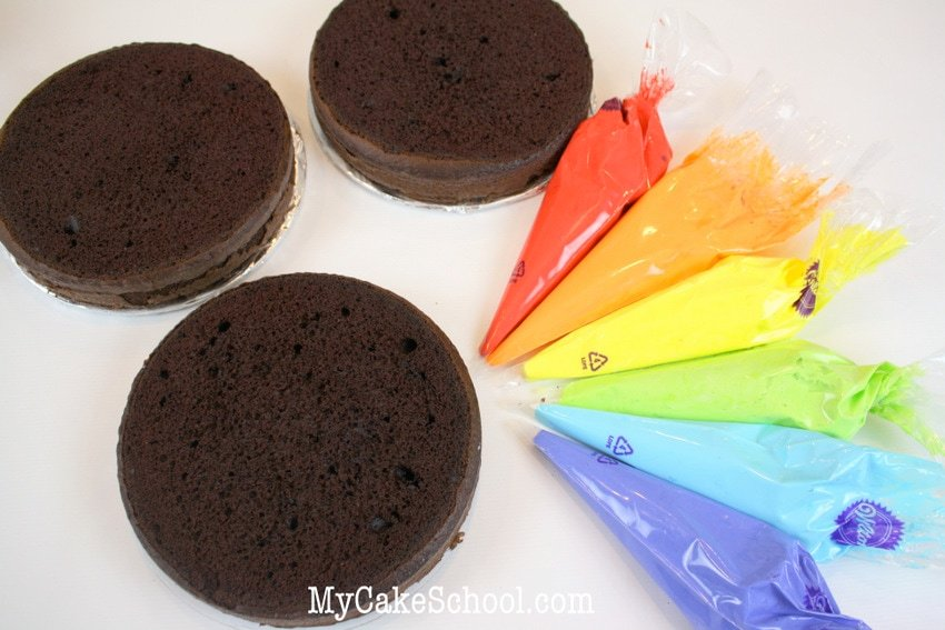 Learn how to make rainbow cake filling in this free cake decorating tutorial by MyCakeSchool.com!