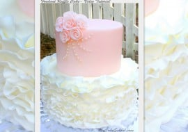 Beautiful Fondant Ruffle Cake! Video tutorial by MyCakeSchool.com. Online Cake Decorating Tutorials and Recipes!