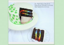 Learn how to make rainbow buttercream filling in this free step by step cake tutorial by MyCakeSchool.com!