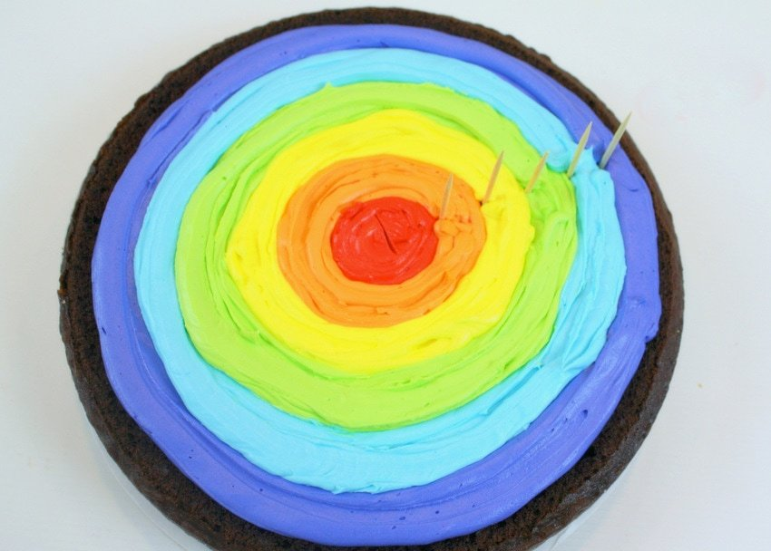 Learn how to make rainbow cake filling in this step by step cake tutorial by MyCakeSchool.com!