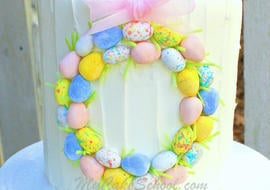 Beautiful Easter Wreath Cake! Free Tutorial by MyCakeSchool.com! SO easy to make!