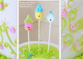 Adorable Birdhouse Cake Topper Tutorial by MyCakeSchool.com!