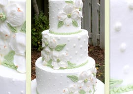 Learn how too pipe elegant dogwood flowers in buttercream in this My Cake School cake decorating video tutorial!