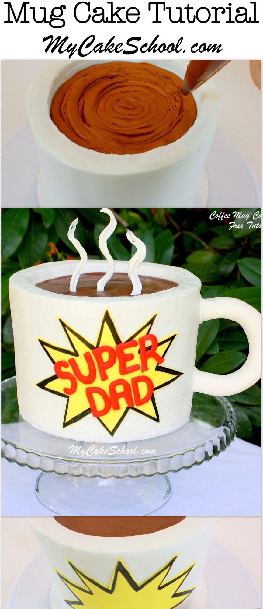 coffee mug cake coffee mug cake s day tutorial my cake school 3001