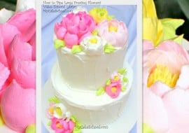 Learn how to pipe large, fluffy frosting flowers in this My Cake School cake decorating video tutorial! Online Cake Tutorials & Recipes!