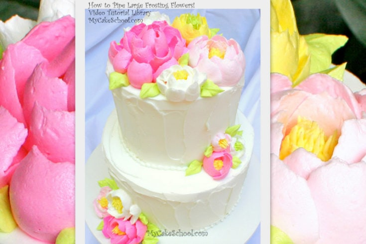How to Pipe Large Frosting Flowers!~Video Tutorial