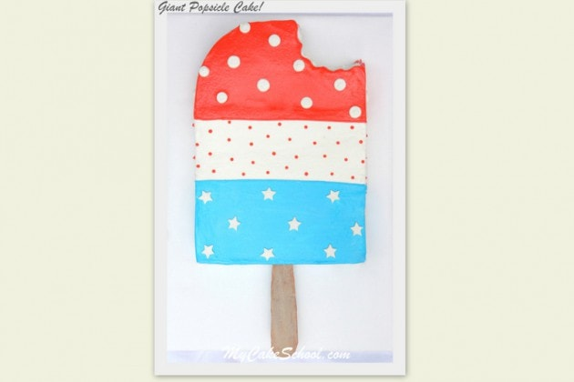 Learn how to make a Popsicle Cake in this MyCakeSchool.com free cake decorating tutorial!