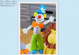 How to Make a Gum Paste Clown Cake Topper in this MyCakeSchool.com video tutorial.