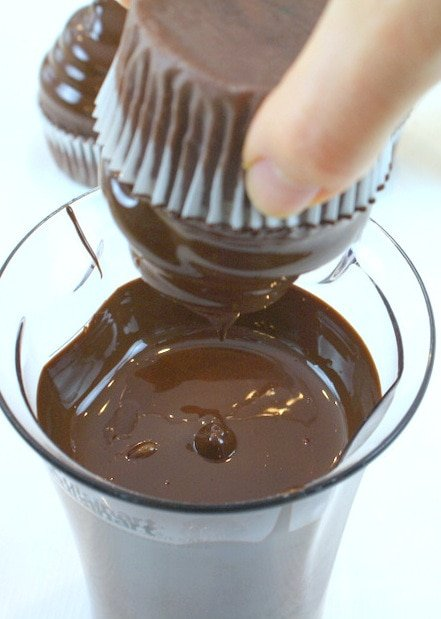 The perfect Chocolate Shell Coating for Hi Hat Cupcakes! MyCakeSchool.com recipe and tutorial!