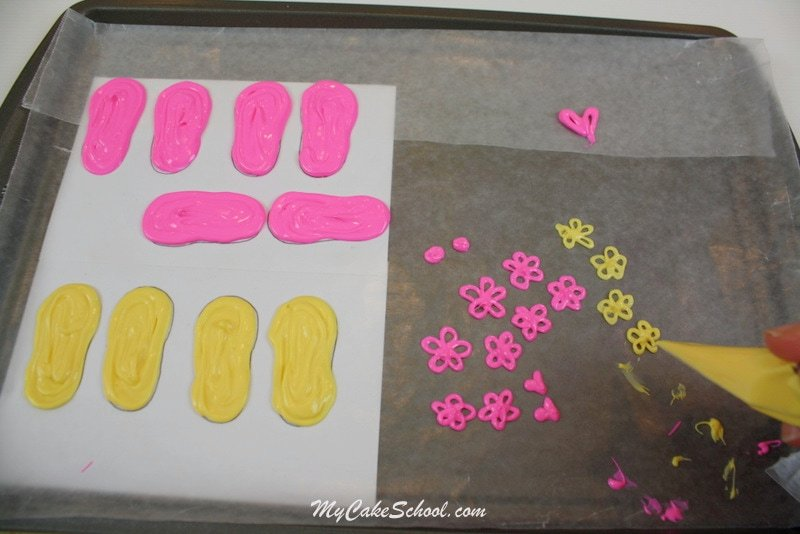 Free Flip Flop Cake Tutorial by My Cake School! SO cute!