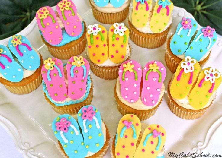 Flip Flop Cupcakes!~ Free Tutorial